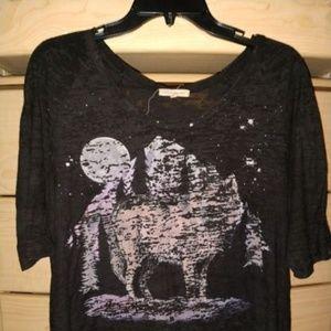 Werewolf Moonlight Top - half sleeves - sz M